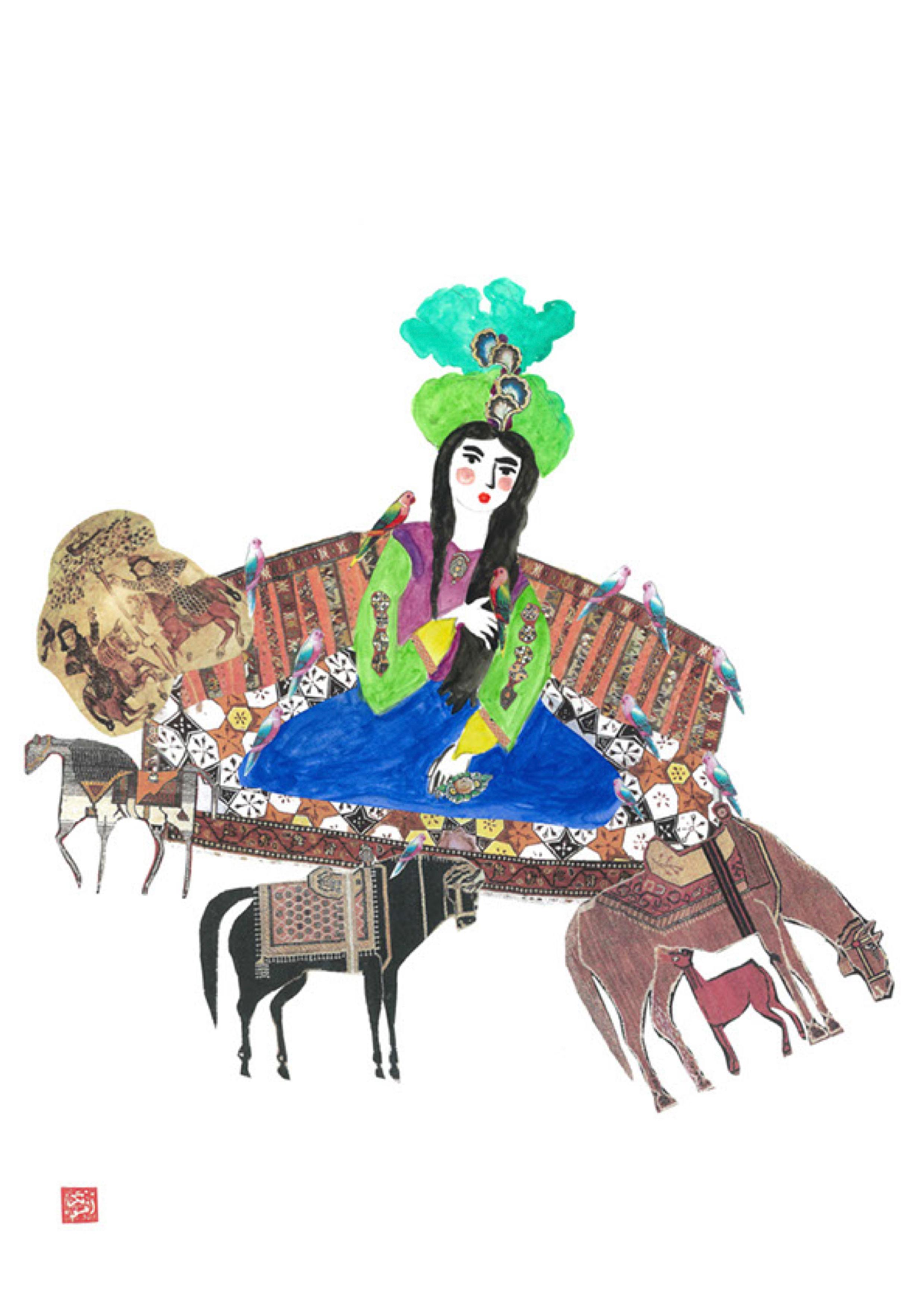 Afsoon - 20 - Horses - Persian Expressions