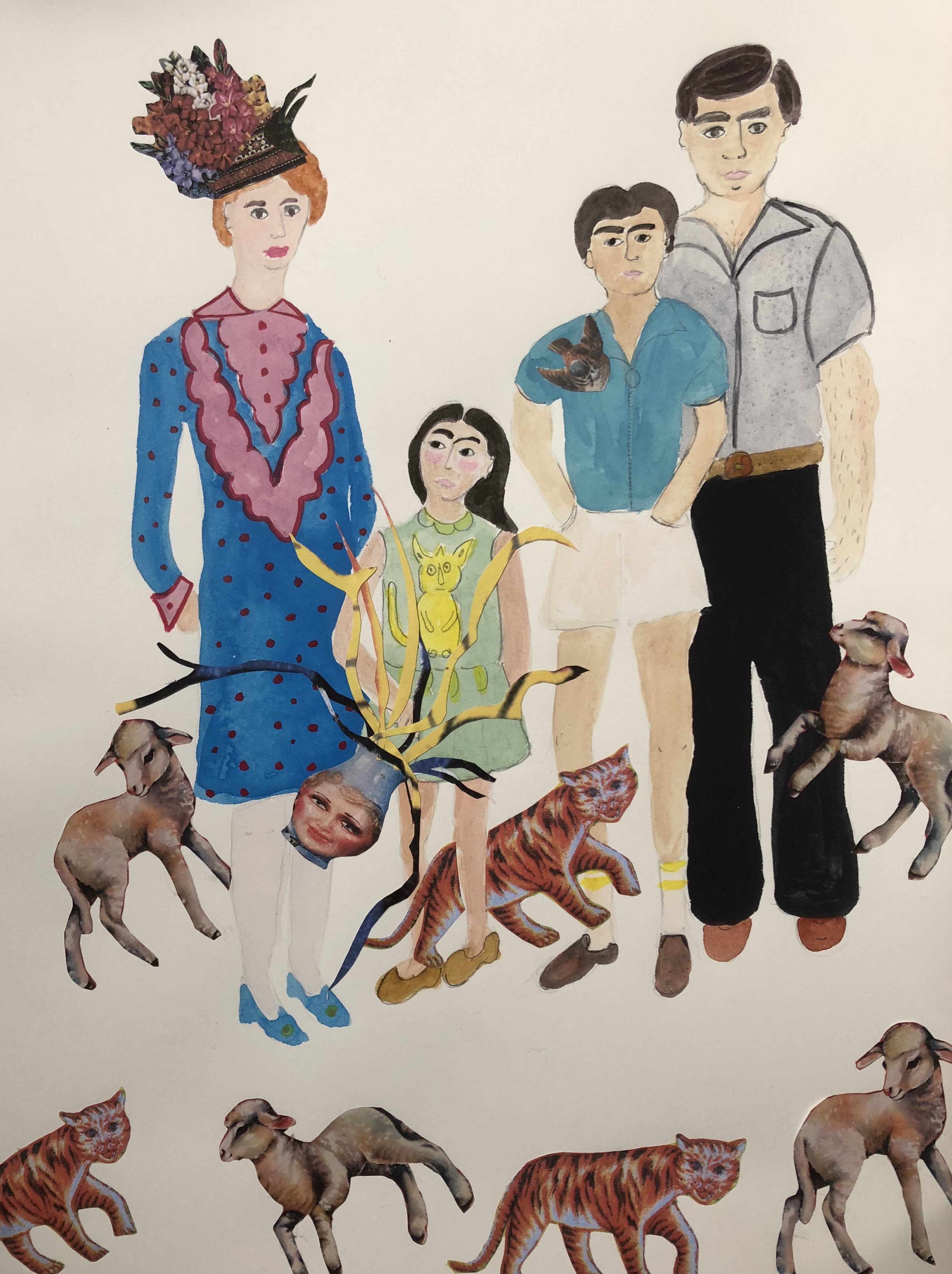 Family-Dynamics-Watercolor-by-Iranian-Artist-Afsoon
